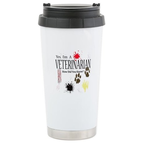 Yes I'm A Veterinarian Stainless Steel Travel Mug