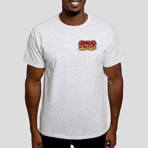 Koi Fish Tribal Ash Grey T-Shirt
