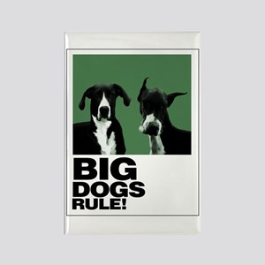 Two Big Dogs Rectangle Magnet
