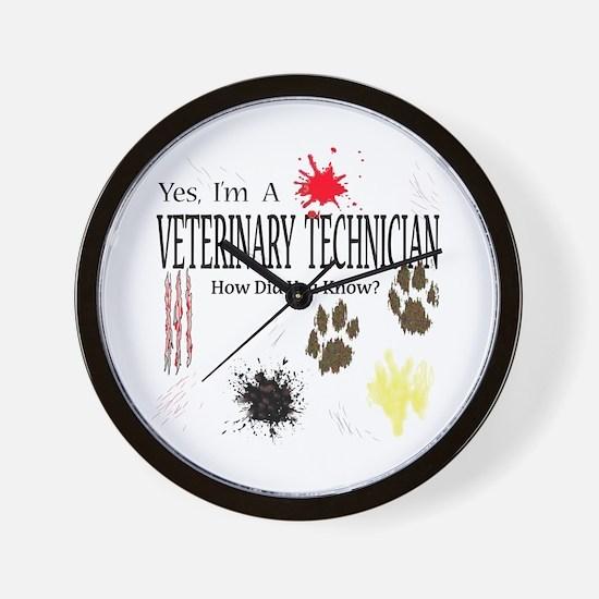 Yes I'm A Veterinary Technician Wall Clock