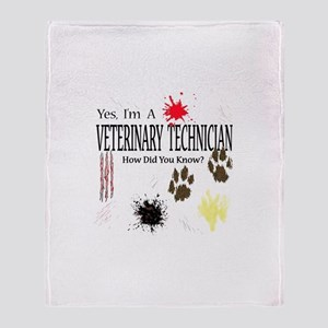 Yes I'm A Veterinary Technician Throw Blanket