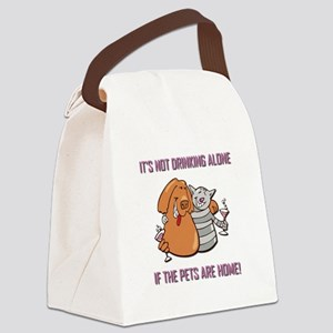 IT'S NOT DRINKING.... Canvas Lunch Bag