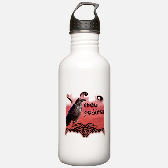 Crow Goddess Water Bottle