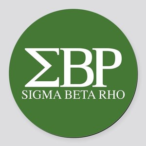 Sigma Beta Rho Fraternity Letters Round Car Magnet