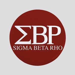 Sigma Beta Rho Fraternity Letters in White Button