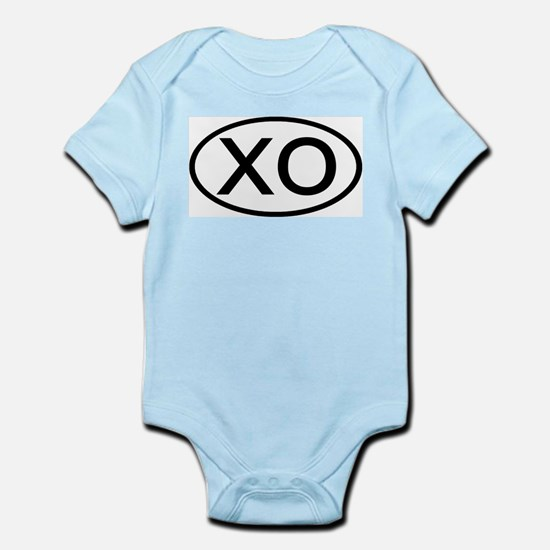 XO - Initial Oval Infant Creeper