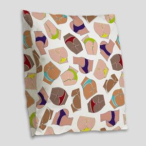 Illustration Pattern DAT ASS Burlap Throw Pillow