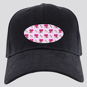 ALL-OVER PRINTS Black Cap with Patch