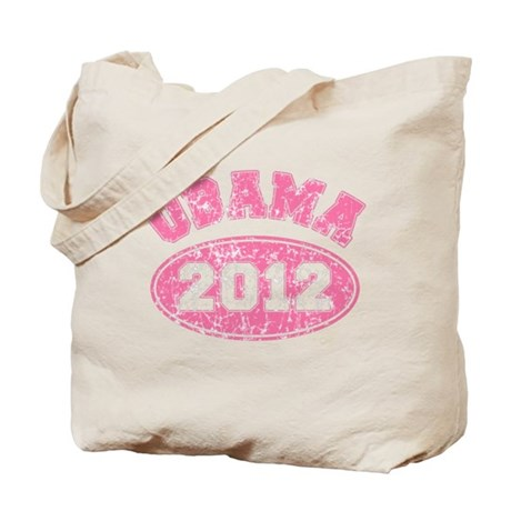 OBAMA 2012 Pink Faded Tote Bag