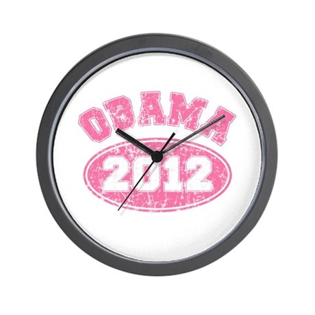OBAMA 2012 Pink Faded Wall Clock