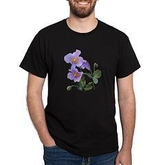 Lilac Poppy Black T-Shirt