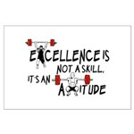 Excellence is an Attitude Large Poster