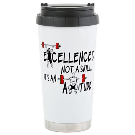 Excellence is an Attitude Stainless Steel Travel M
