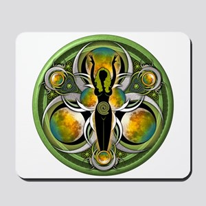 Goddess of the Green Moon Mousepad