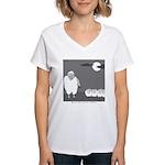 Werewolf in Sheep's Clothing Women's V-Neck T-Shir