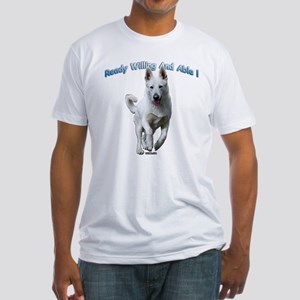 White German Shepherds Rock Fitted T-Shirt