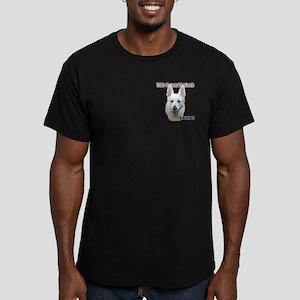 White German Shepherds Rock Men's Fitted T-Shirt