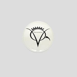 Vinyl Queen Logo Mini Button