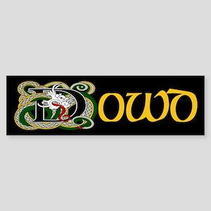 Dowd Celtic Dragon Bumper Sticker