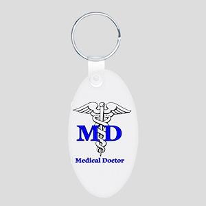 Doctor Aluminum Oval Keychain