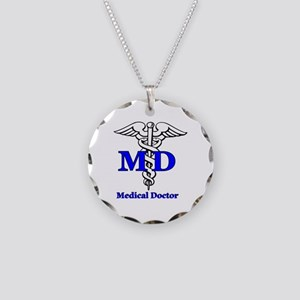 Doctor Necklace Circle Charm