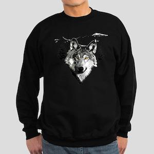 Grey Wolf Love Sweatshirt (dark)