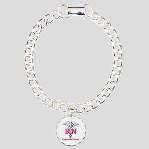 Registered Nurse Charm Bracelet, One Charm