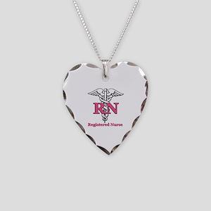 Registered Nurse Necklace Heart Charm