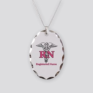 Registered Nurse Necklace Oval Charm
