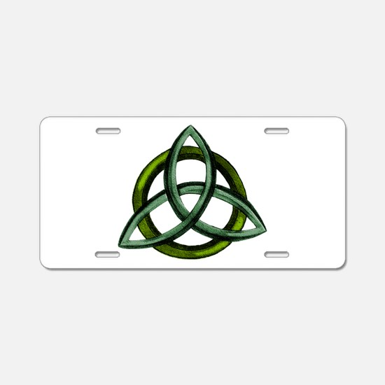 Triquetra Green Aluminum License Plate