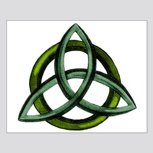 Triquetra Green Small Poster