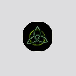 Triquetra Green Mini Button