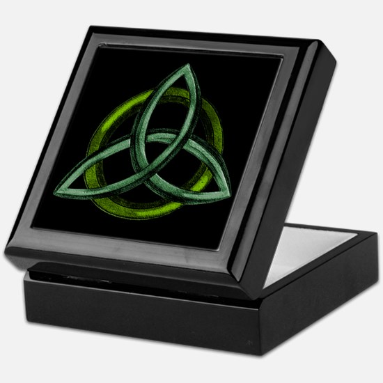 Triquetra Green Keepsake Box