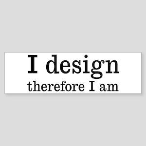 I Design Sticker (Bumper)