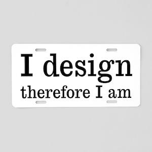 I Design Aluminum License Plate