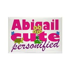 Cute Abigail Rectangle Magnet