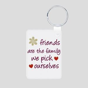 Friends Are Family Aluminum Photo Keychain