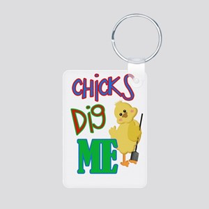Chicks Dig Me Aluminum Photo Keychain