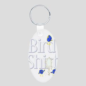 Bird Shit Aluminum Oval Keychain