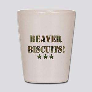 Beaver Biscuits Shot Glass