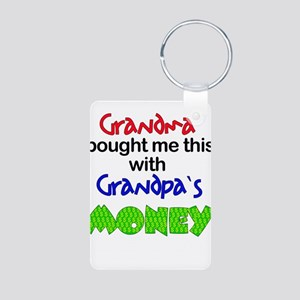 Grandpa's Money Aluminum Photo Keychain