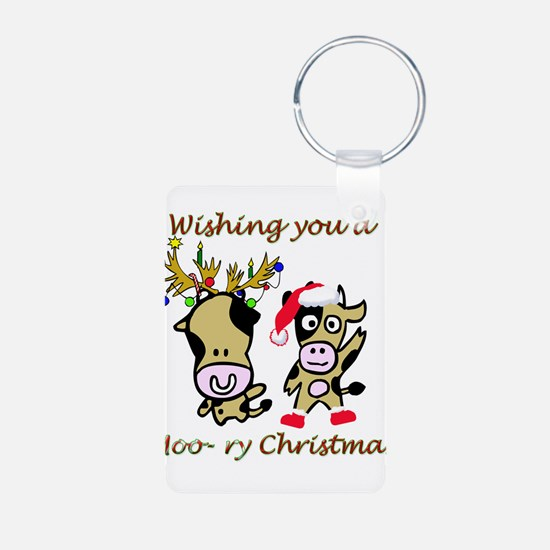 Cow Christmas Keychains