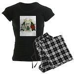 Peace Love Joy Snowman Women's Dark Pajamas
