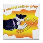 Flyball's Such A Blast! Tile Coaster