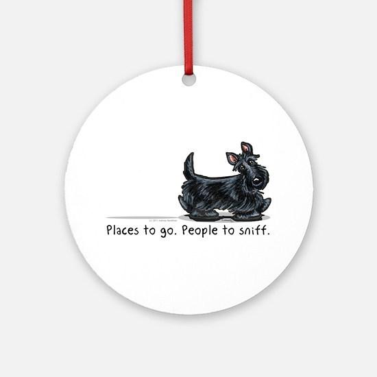 Scottie Places Ornament (Round)