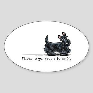 Scottie Places Sticker (Oval)