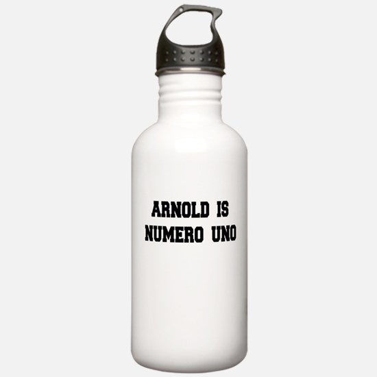 Arnold is Numero Uno Water Bottle