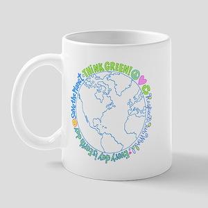 Think Green World Mug