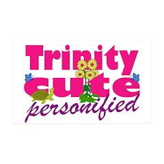 Cute Trinity 38.5 x 24.5 Wall Peel