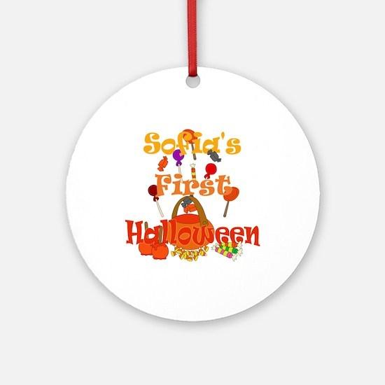 First Halloween Sofia Ornament (Round)